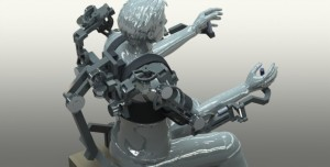 Earlier prototype of the HARMONY rehabilitation exoskeleton robot