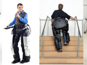 Left to Right: Rex Bionics Company Logo; REX Exoskeleton: roboticstrends.com; REX: thecoolgadgets.com, REX climbing stairs: amazingworldonline.com; Dave MacCalman with REX: blogcdn.com