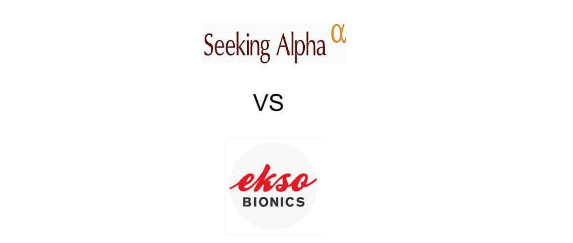 Logos of Seeking Alpha and Ekso Bionics