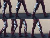 Partial gait cycle using a Lego NXT knee exoskeleton.