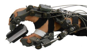 Teleoperated exoskeleton glove for hand rehabilitation / A mechatronic system for robot-mediated hand telerehabilitation