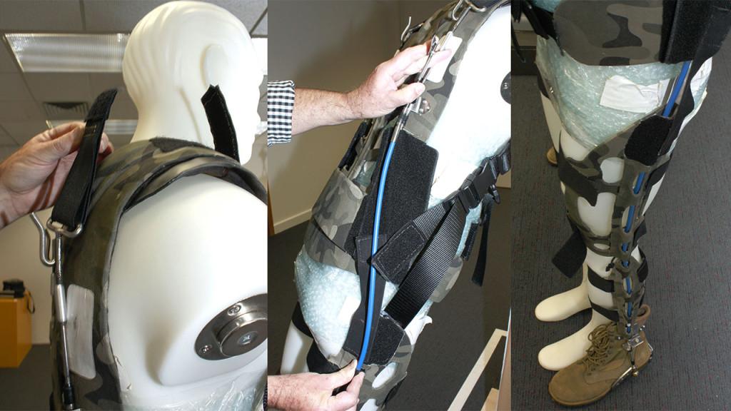 Australia's Defence Science and Technology Organisation Passive Soft Exoskeleton | Gizmodo.UK | Aug 2015