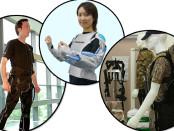 Soft Exoskeletons, left to right: Harvard Soft Robotic Exosuit - Wyss Institute, Panasonic REALIVE - Matsushita Electric Industrial Co., DSTO Operations Exoskeleton - Gizmodo.AU