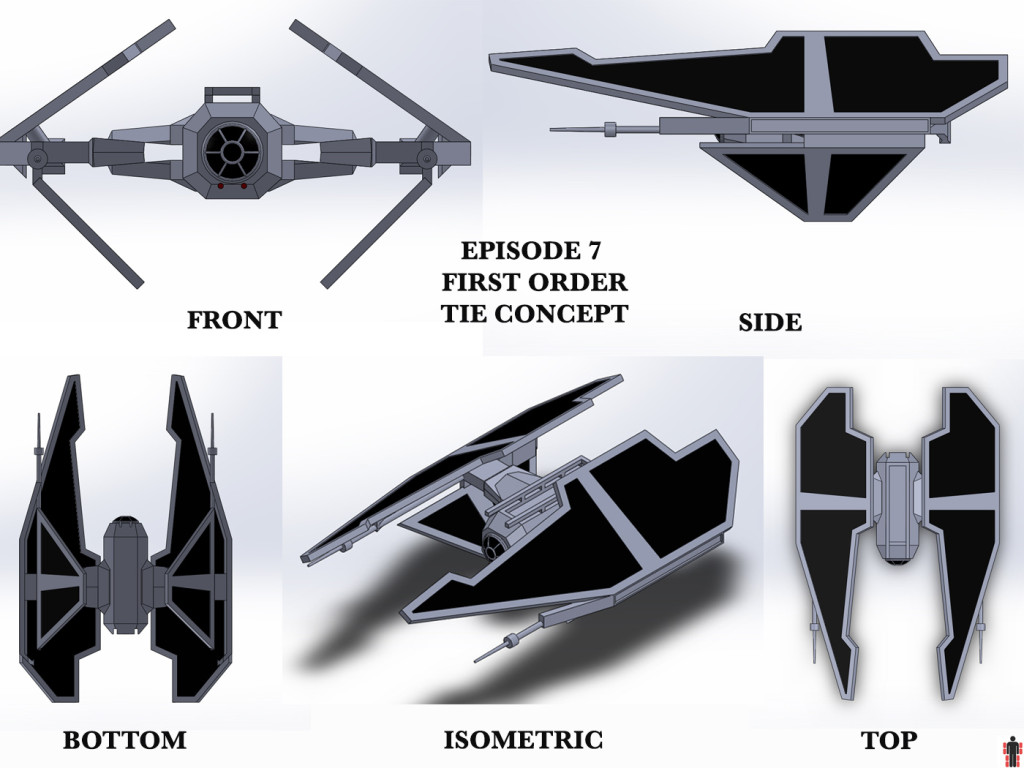 First Order Tie Concept Based on Star Wars Episode 7 Concept Art From MakingStarWars.Net
