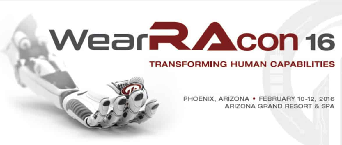 Wearable Robotics Association Conference, WearRAcon16, Feb 10-12, Phoenix, AZ, USA -http://www.wearablerobotics.com/