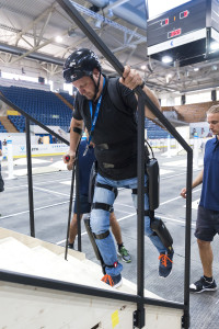 ETH Cybathlon rehearsal at the Swiss Arena in Kloten, Switzerland, July 14th 2015. (ETH/Alessandro Della Bella)