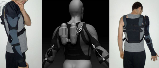 Soft Arm Compliant Exoskeleton, Lorenzo Masia, Aries Lab, Nanyang Technological University, iit - Institute Italiano Di Technologia, 2016, http://lorenzomasia.info/projects/assistive-soft-exoskeletons.html