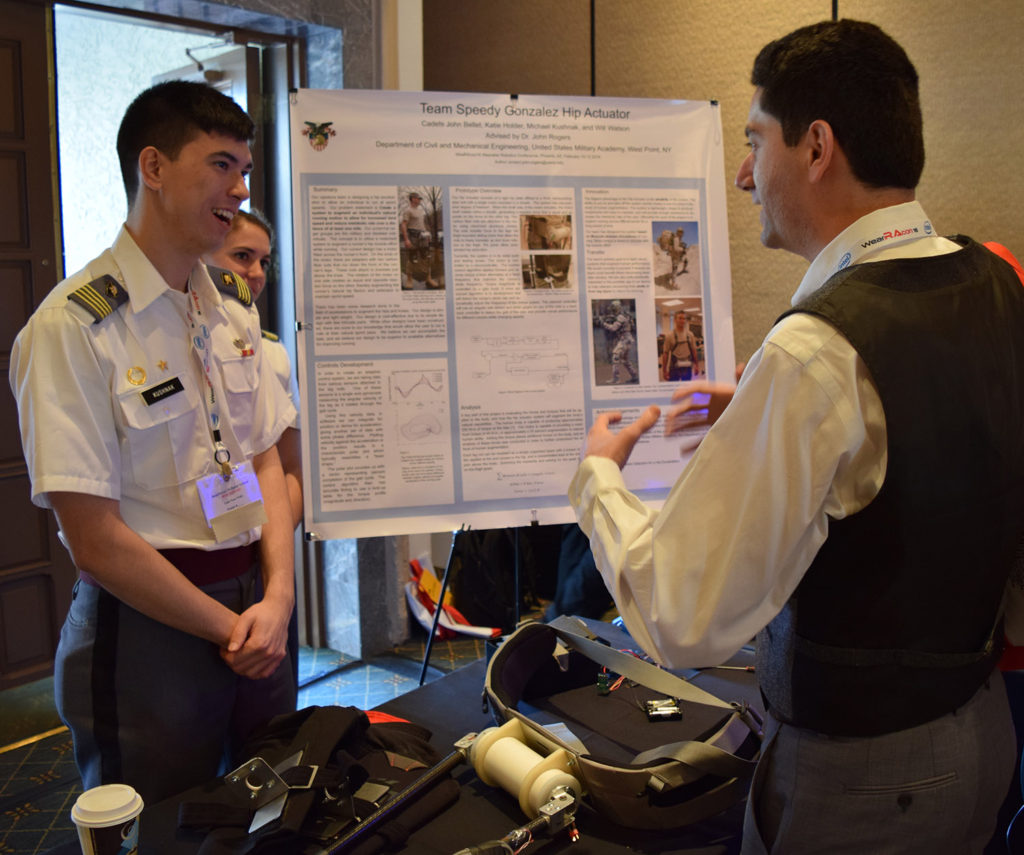 Hip Actuating Exoskeleton for Running Assistance John Rogers, West Point, WearRAcon16, Tri Dao