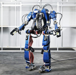 Giant Hyundai Wearable Robot / Exoskeleton, Hyundai Motor Group Blog, 2016