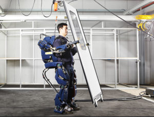 Large Hyundai Motor Group Blog Wearable Robot / Exoskeleton Lifting a Panel, Hyundai Motor Group Blog, 2016