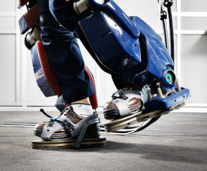 Giant Hyundai Wearable Robot / Exoskeleton, Hyundai Motor Group Blog, 2016