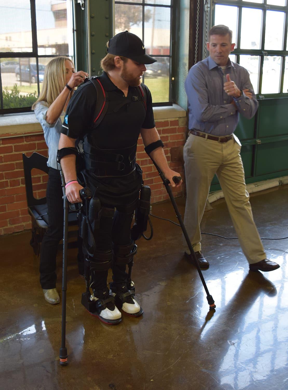 Demonstration of the Ekso GT at Ekso Bionics, 2016