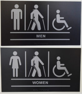Restroom Signs In Ekso Bionics, Richmond