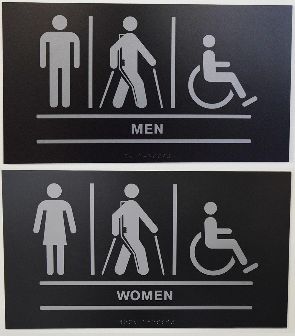 Restroom Signs In Ekso Bionics, Richmond