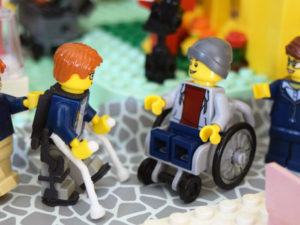 LEGO Minifigure Wheelchair and Exoskeleton