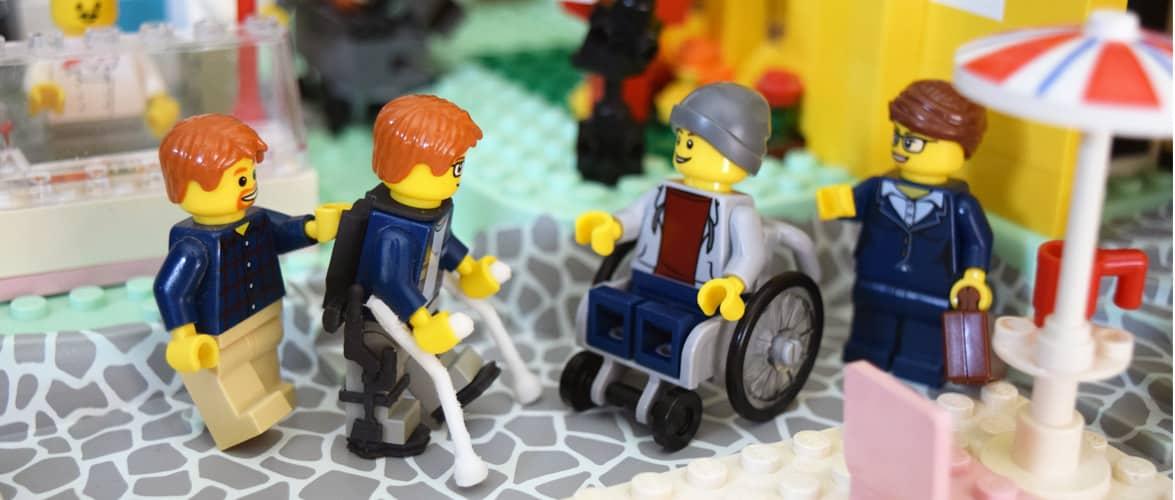 LEGO Minifigure Wheelchair and Exoskeleton