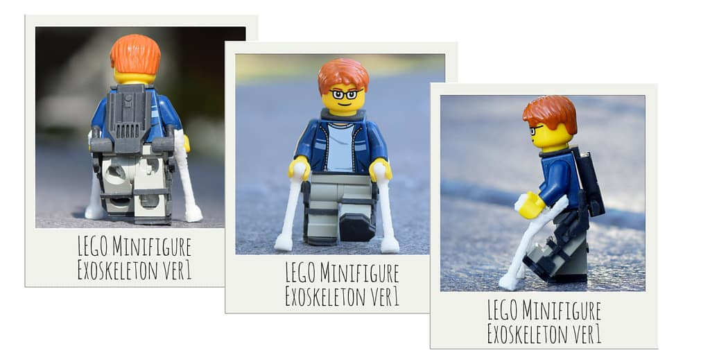 LEGO Minifigure Exoskeleton ver 1 Based On Ekso GT