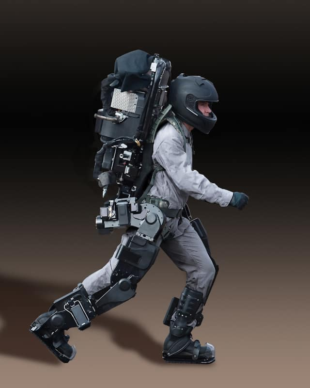 Guardian Exoskeleton, which will be capable of lifting hundreds of pounds when it is commercially available. (PRNewsFoto/Sarcos Corp.)