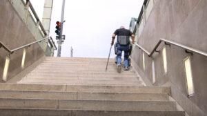 ReWalk has built a stair-climbing exoskeleton, enabling a paralyzed man to walk again - Engadget via YouTube