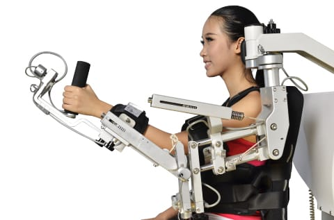 NA-A2 stationary upper body rehabilitation exoskeleton by Guangzhou YiKing Medical Equipment Industrial CO