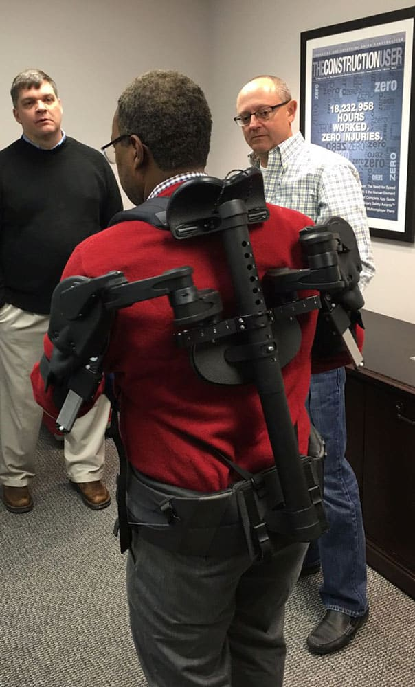 Laborer's Health & Safety Fund of North America Walter Jones with Ekso Works Vest