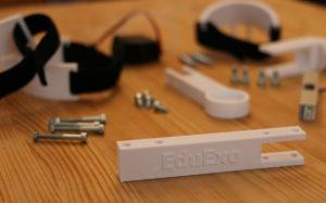 Various prototype components for the EduExo robotic development kit.