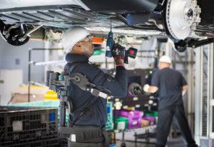 BMW associates using the Ekso Bionics device on 4/20/16 via BMW Group