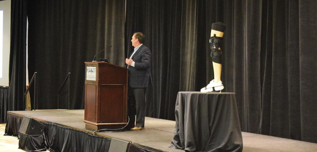 Brad Newman, ASTRO Medical LLC, presenting the ASTRO XO at WearRAcon17