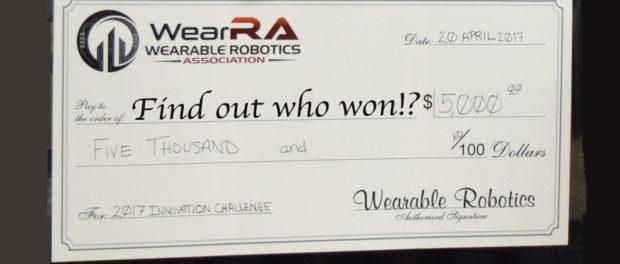 Wearable Robotics Association Innovation Challenge 2017