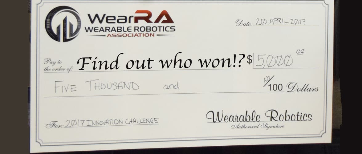 Wearable Robotics Association Innovation Challenge 2017
