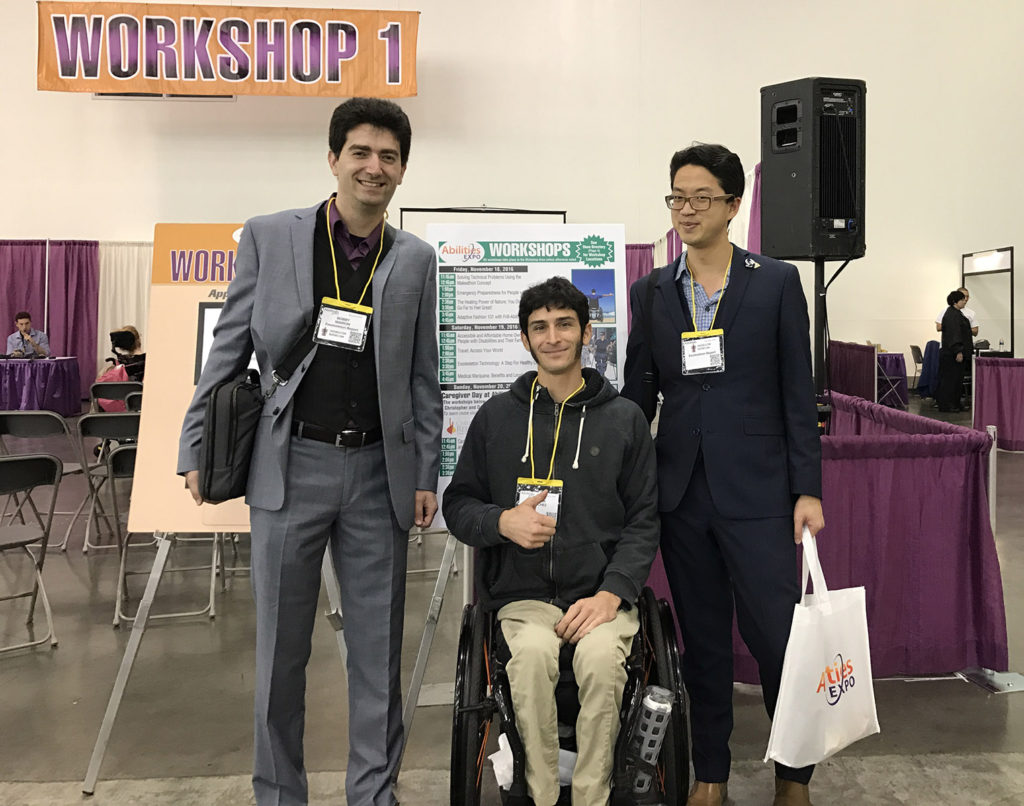 Bobby Marinov Steve Sanchez and Tri Dao at Abilities Expo 2016