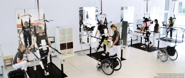 Cybernic Treatment using the Medical HAL Cyberdyne Care Robotics Bochum Germany copy