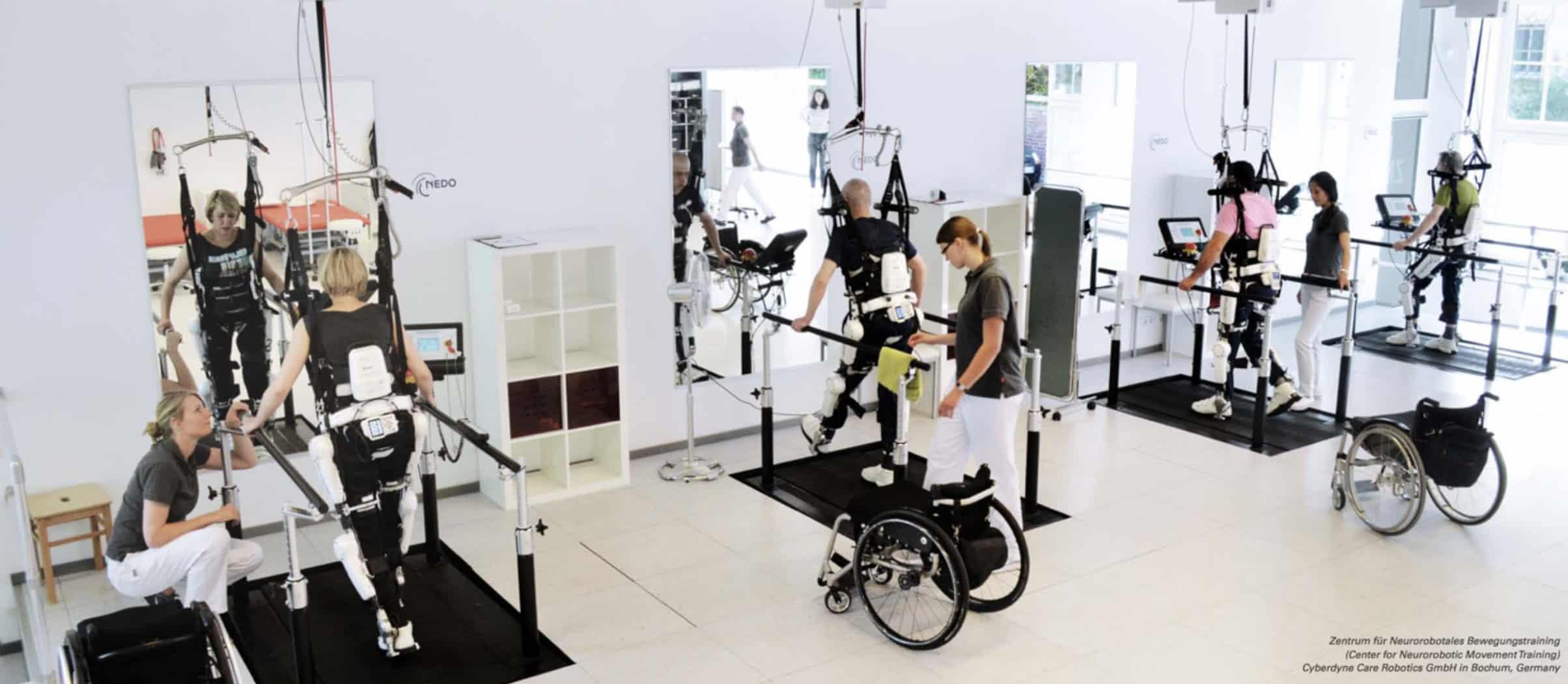 Cybernic Treatment using the Medical HAL Cyberdyne Care Robotics Bochum Germany copy
