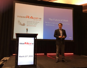 Greg Davault from Ekso Bionics at WearRAcon18