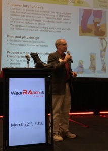 Mark Roster lightning pitch at WearRAcon18 Innovation Challenge