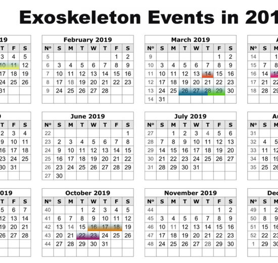 Exoskeleton Events for 2019 Updated Jan