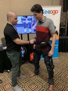 Eitan Anenberg showing off the Keeogo at WearRAcon19