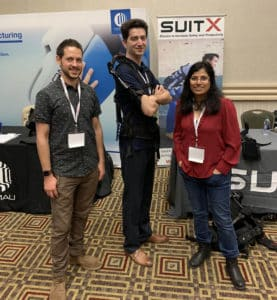 Logan Van Engelhoven and Minerva Pillai presenting the shoulderX v3 at WearRAcon19