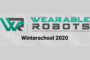 COST Action Winter School on Wearable Robotics 2020