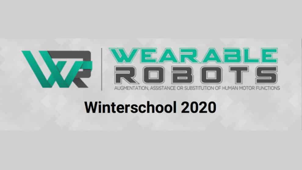 COST Action Winter School on Wearable Robotics 2020