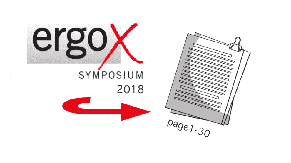 Proceeding of the 2018 ErgoX Symposium Made Available by NIOSH