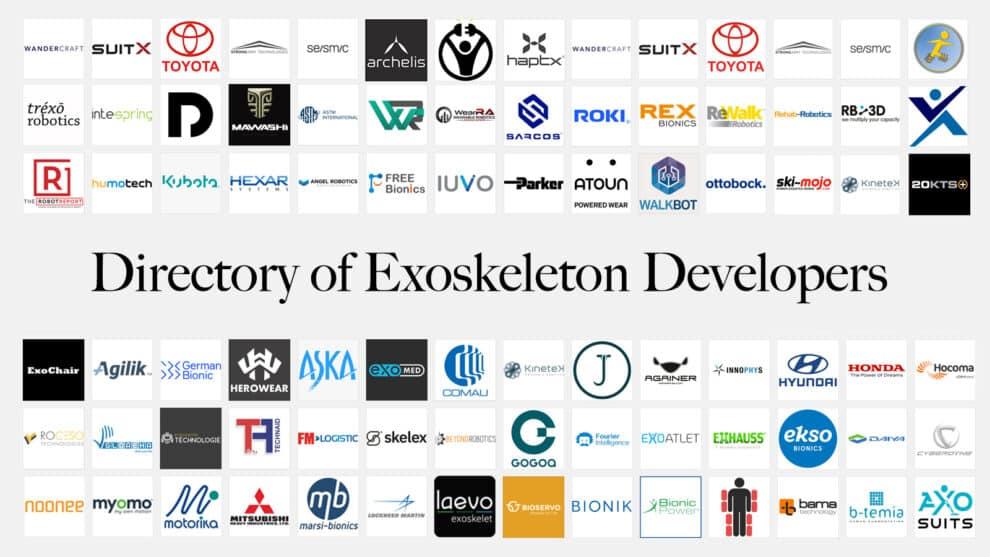 Directory of Exoskeleton Developers