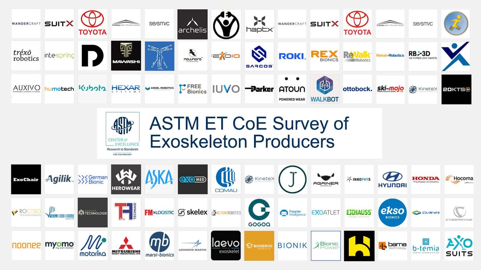exoskeleton producer survey