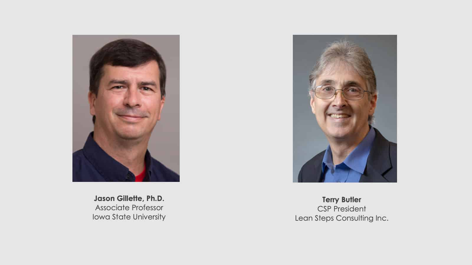Dr Jason Gillette and Terry Butler Webinar Sept 2020