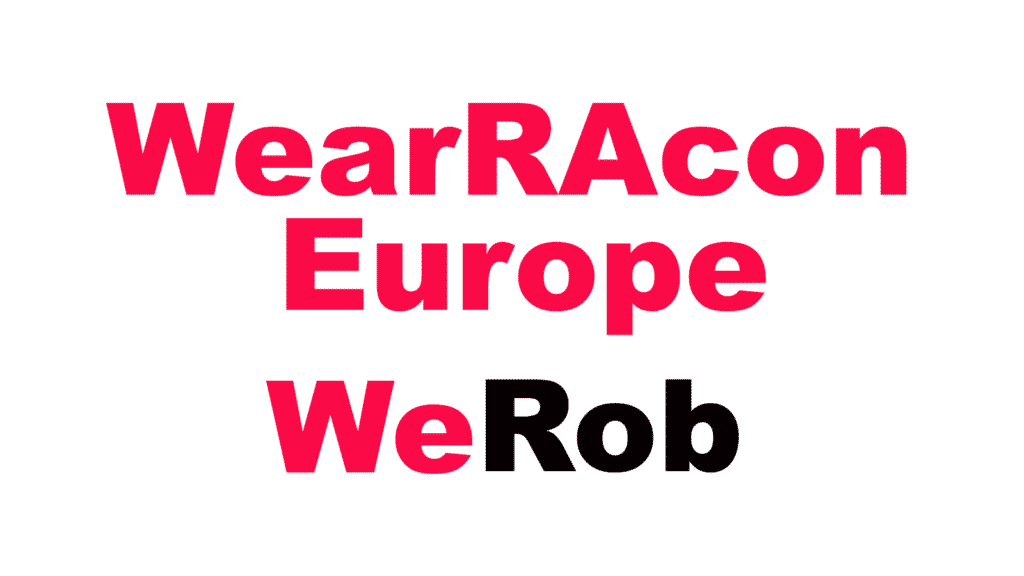 WearRAcon Europe WeRob 2021