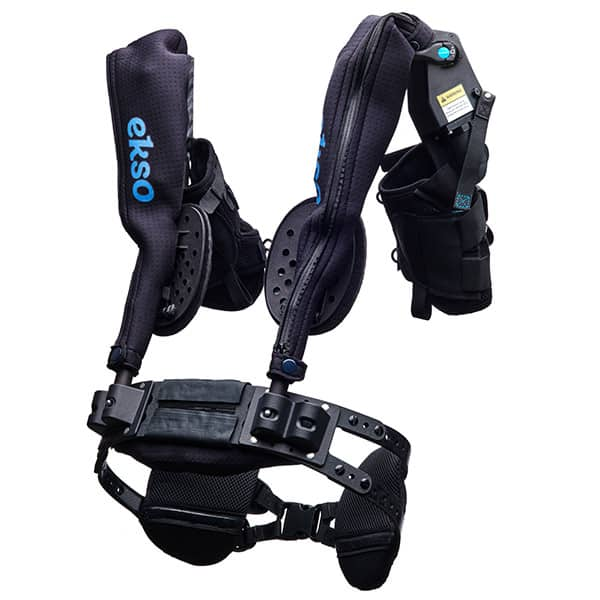 The EVO by Ekso Bionics builds on the success and customer feedback of the EksoVest, both of which are passive shoulder support exoskeletons for overhead work.
