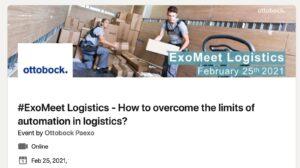 Webinar Ottobock ExoMeet Logistics Exoskeleton Event