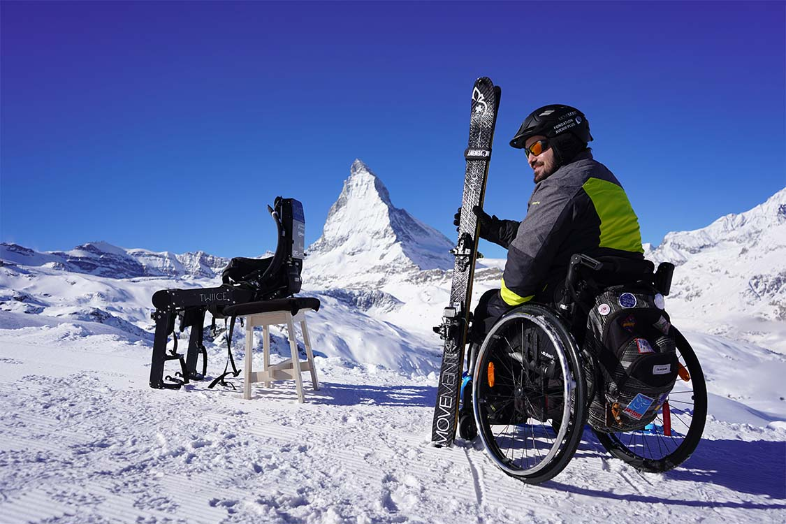 WIITE, the Powered Exoskeleton For Ski-Touring by TWIICE March 2021