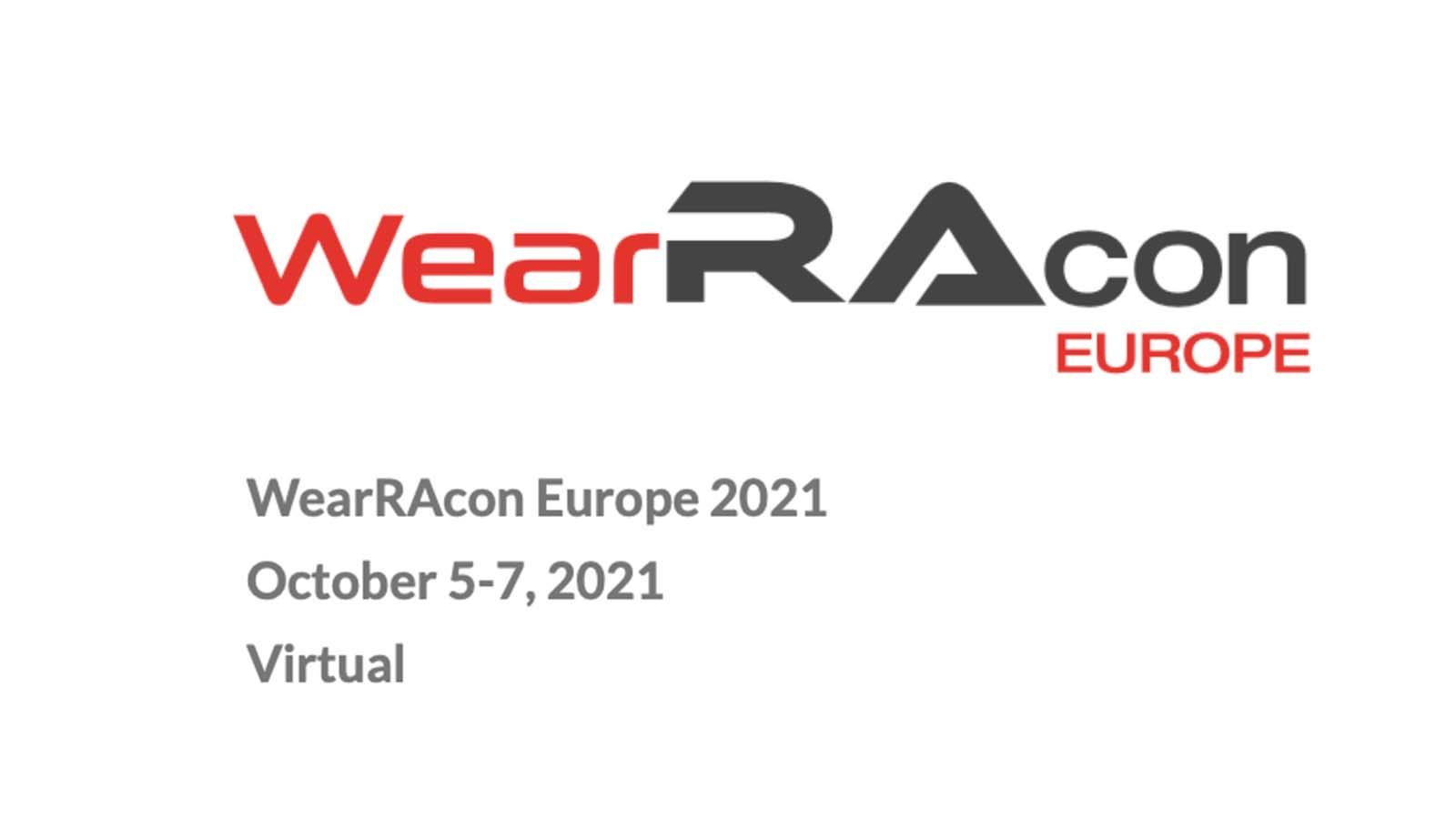 WearRAcon Europe 2021