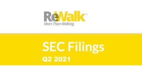ReWalk Robotics Reports Second Quarter 2021 Financial Results